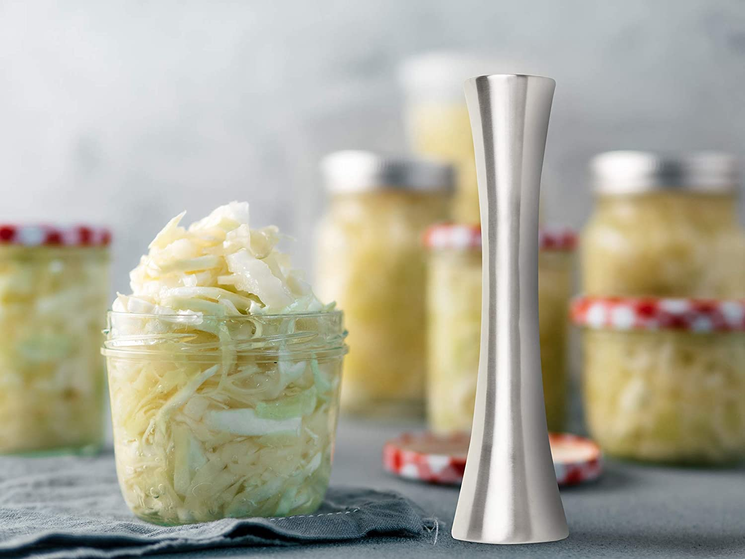 10 Farm to Table 52553 Sauerkraut Pounder Tamper 10 inches Steel