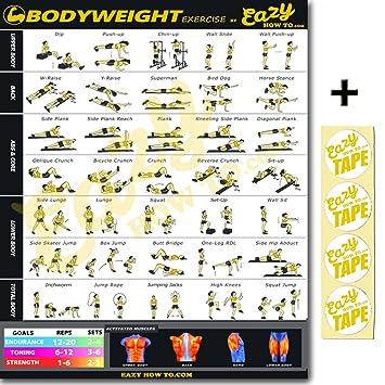 Eazy cómo a Peso ejercicio entrenamiento Banner Póster grande 51 x 73 cm tren Endurance,