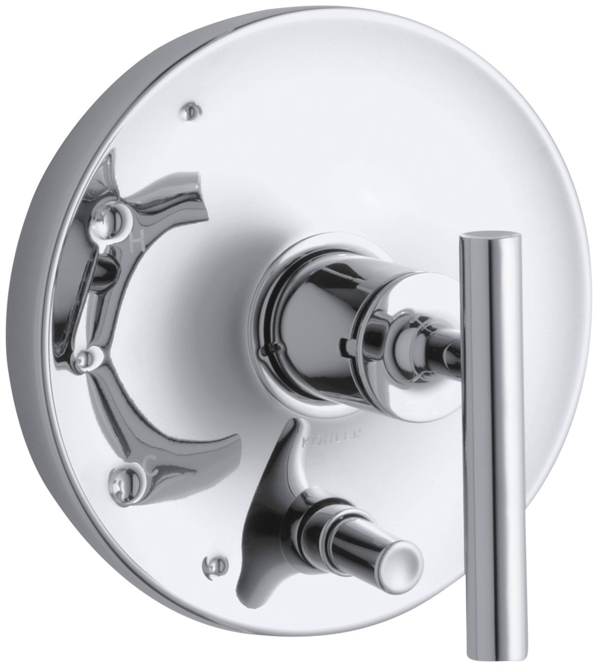 KOHLER K-T14501-4-CP Purist Rite-Temp Pressure-Balancing Valve Trim with Lever Handles, Polished Chrome 70%OFF