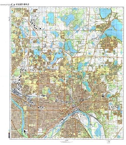 Amazoncom Soviet Cold War Map Minneapolis 2 Home Kitchen - Us-map-minneapolis