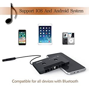 Arsvita Car Audio Bluetooth Cassette Receiver, Type Bluetooth 5.0 Adapter