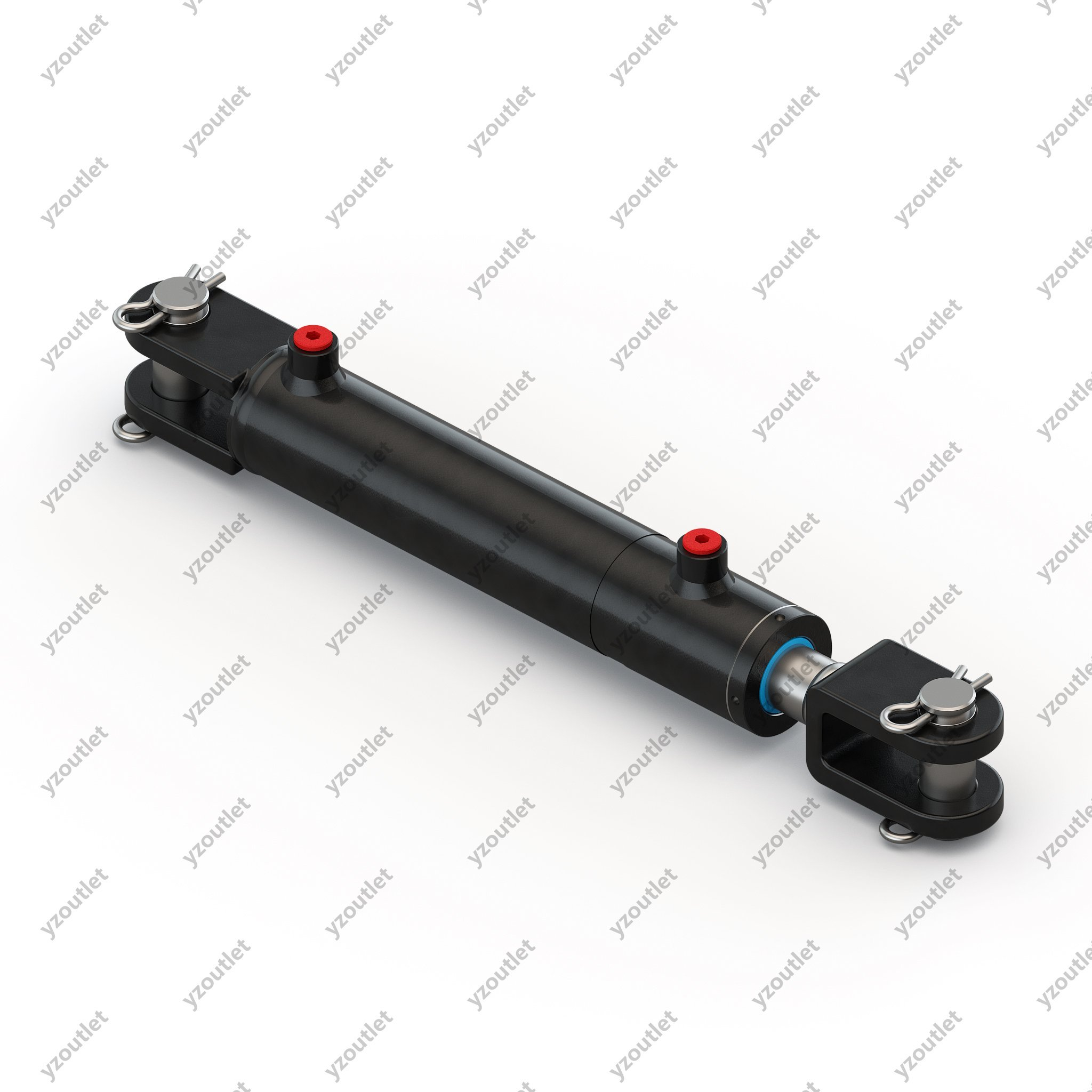 Mighty Double Acting Hydraulic Welded Cylinder Clevis - 2'' Bore x 6'' Stroke