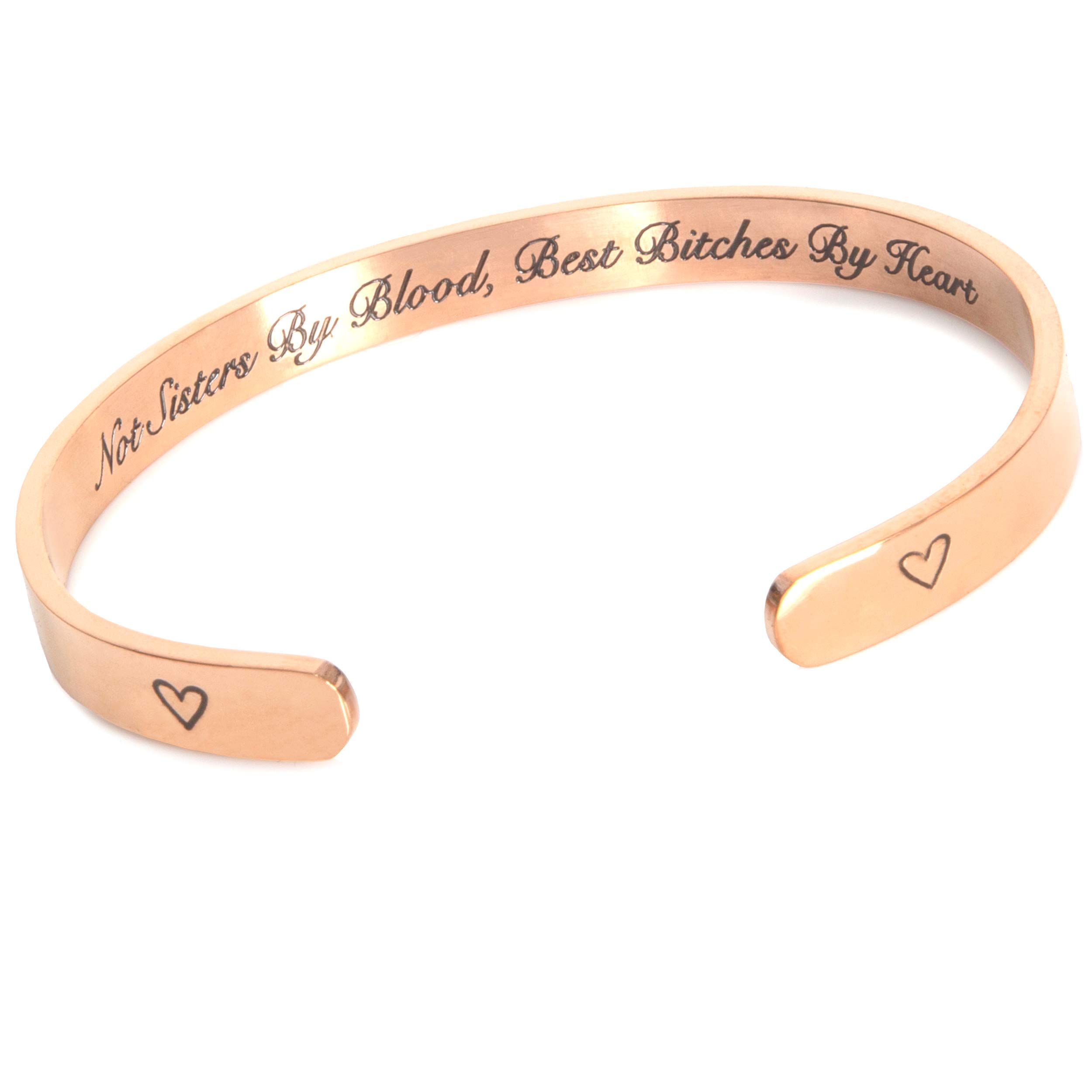 Bachelorette Party Bracelet, Bridesmaids, Maid of Honor, Birthday Gift (Not Sisters by Blood, Best Bitches by Heart)