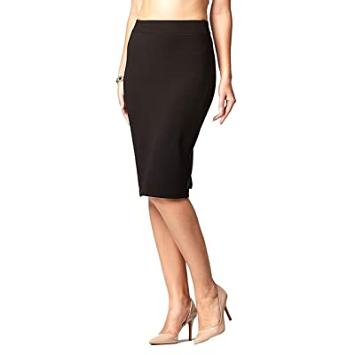 Premium Women's Pencil Skirt - Elastic Waist - Stretch Bodycon Midi Skirt - Many Colors at Women's Clothing store