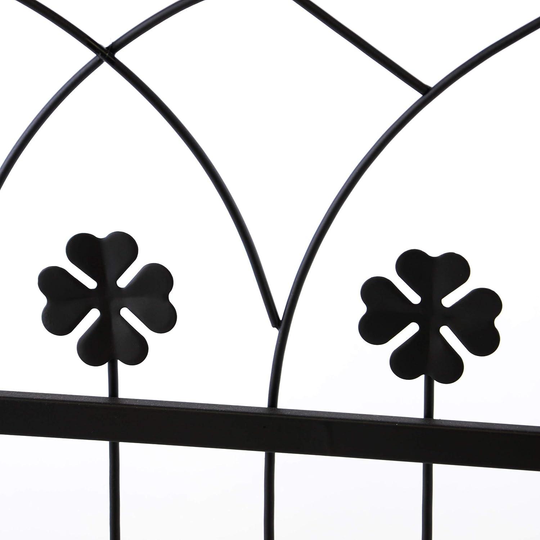 Nexos Rose pérgola Enrejado – Arco para Rosas Flores jardín Terraza con Puerta Puerta Trébol de diseño de Metal 212 cm Negro: Amazon.es: Jardín