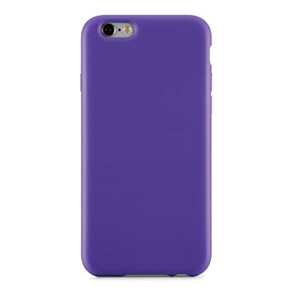 White, Purple Rubber Hybrid Impact Defender Case For iPhone 6 ...