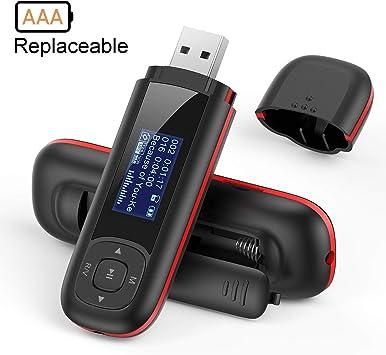 8GB Tragbare USB MP3 Player Video Digital-Player USB Stick mit FM Aufnahme