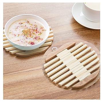 Yookoon Cup Mats Untersetzer Tischset Holz Bambus Fleck