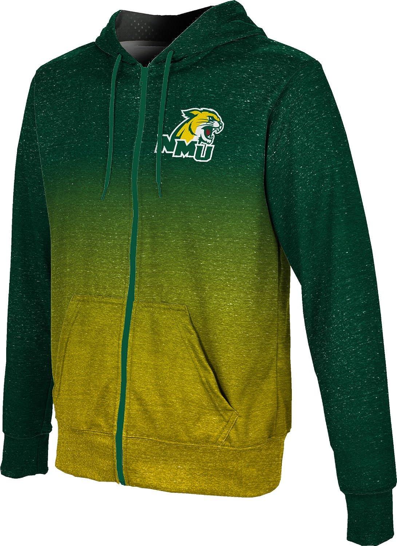 ProSphere Northern Michigan University Mens Full Zip Hoodie Gradient