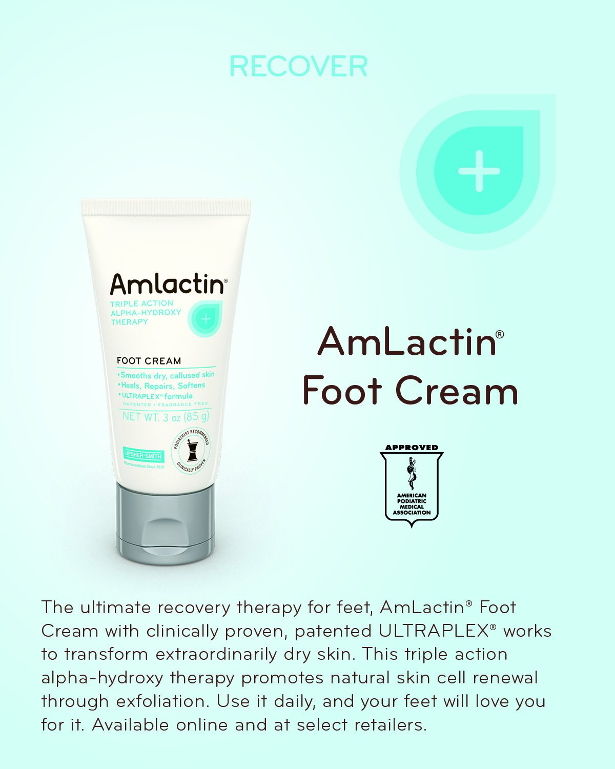 Amazon : Amlactin Alphahydroxy Therapy Foot Cream To Heal, Repair,  Soften Dry, Callused Skin On Feet, Heels Podiatrist Approved 3 Ounce :  Beauty