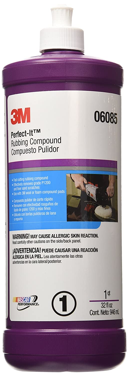 3M Perfect-It Rubbing Compound (06085)–For Cars, Boats, Trucks and RVs– 1 Quart