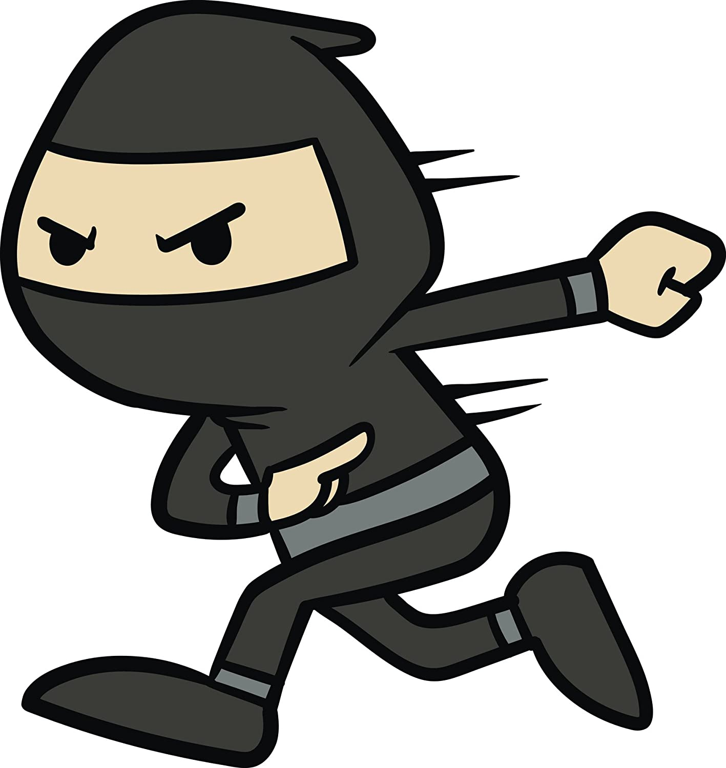 Amazon.com: Swift Speedy Black Ninja Cartoon Emoji Vinyl ...