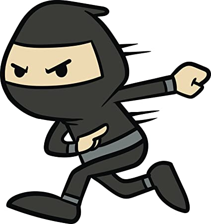 Amazon.com: Swift Speedy Black Ninja Cartoon Emoji Vinyl ...