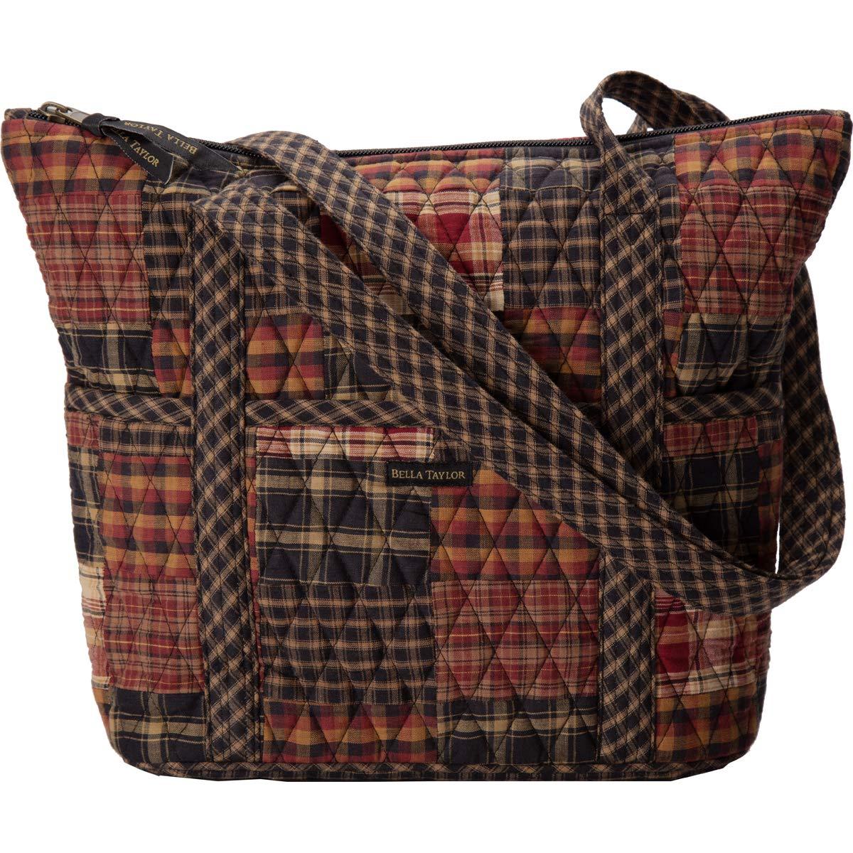 Bella Taylor Stride Style Top Handle Handbags 100% Cotton 10 Pockets Shoulder Strap- 11 Color Choices