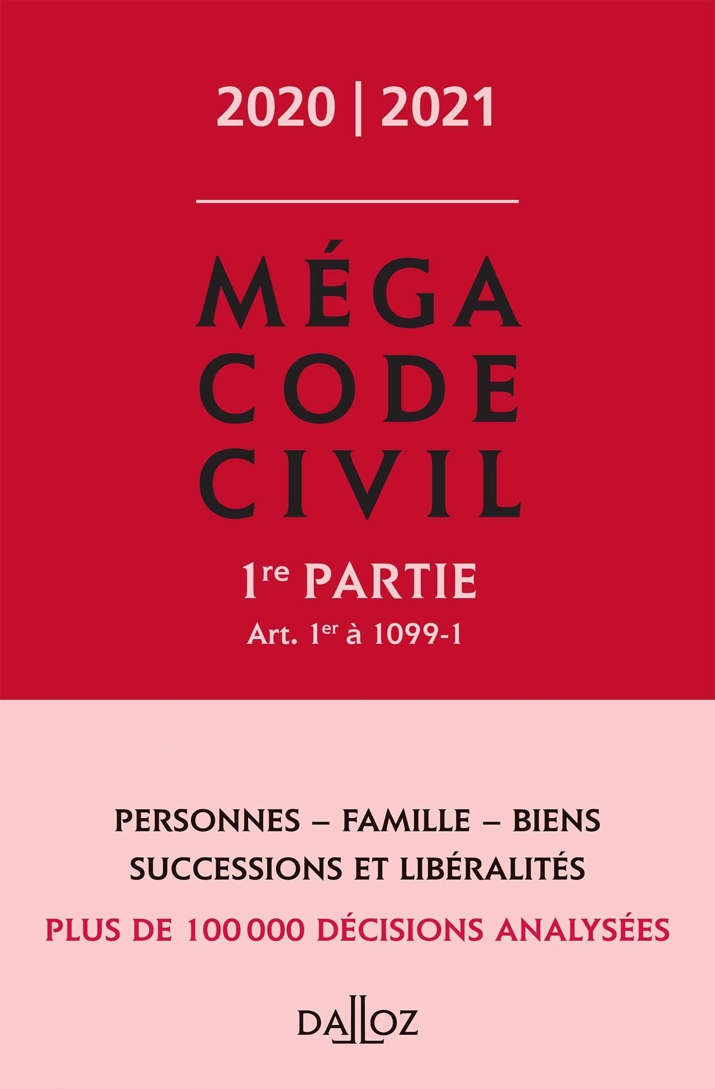 Amazon.fr - Méga Code civil 2020, 1re partie - 1re ed. - Henry, Xavier -  Livres