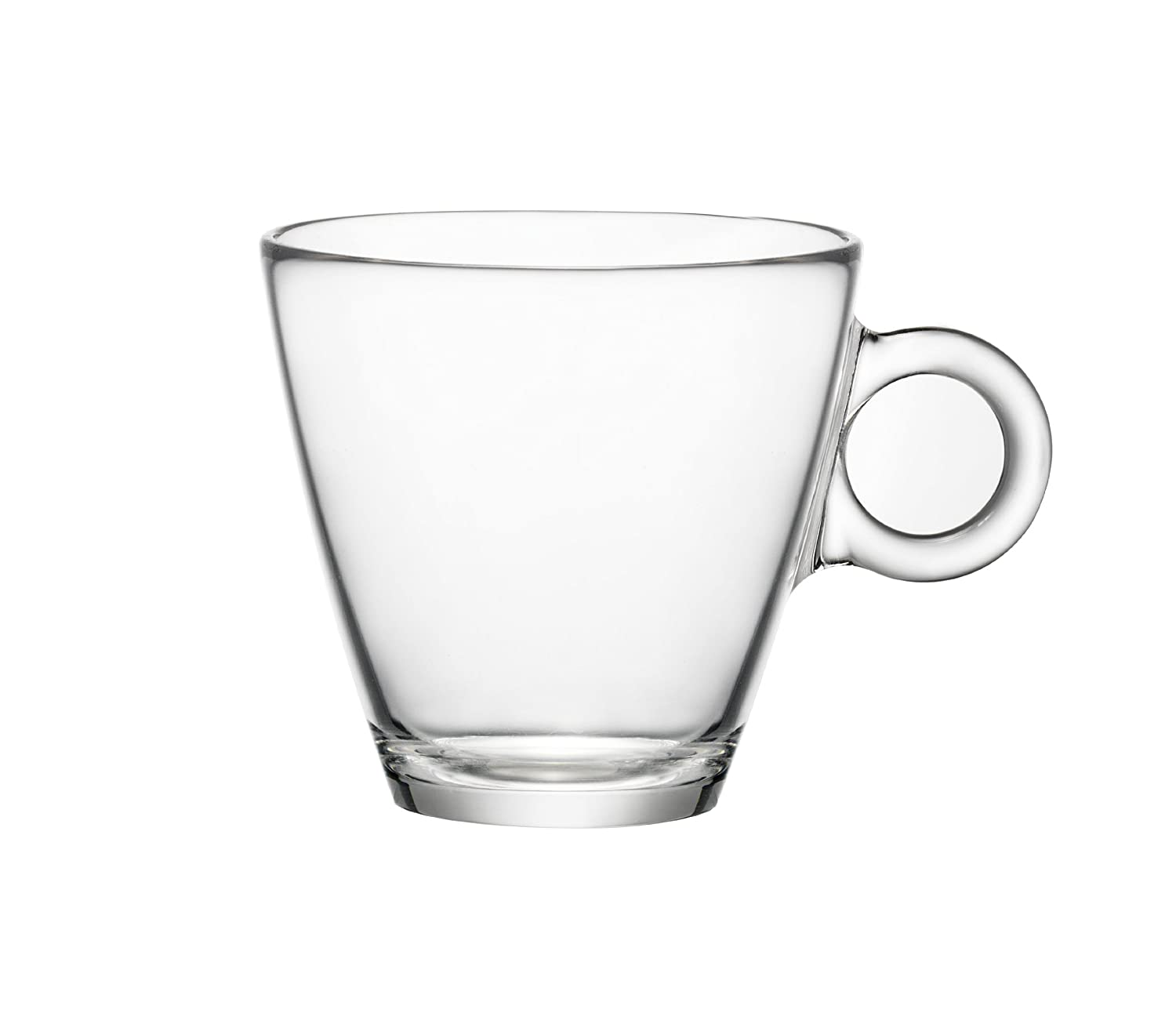 Coffee cup transparent - Amazon Com Bormioli Rocco Easy Bar Cappuccino Cups Clear Set Of 12 Coffee Cups Kitchen Dining