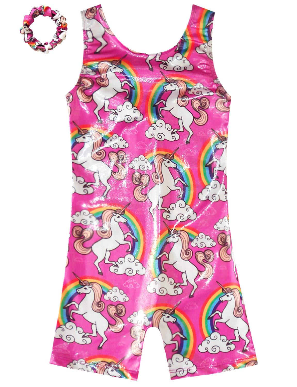 Gymnastics Leotards for Girls Sparkly Unicorn Biketard Outfits Activewear Quick Dry 3