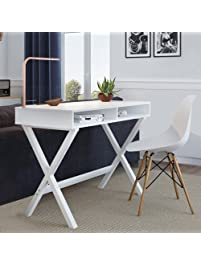 small desk for home office. Nathan Home 51002 Kalos Office Computer Desk Or Makeup Vanity Table, For Small Spaces D