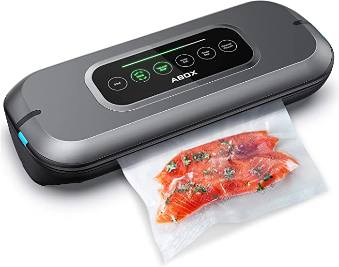 Vacuum Sealer Machine, ABOX V66 Fulll Automatic Vacuum Air Sealing System for Food Saver, with Built-in Cutter and 10 Bags