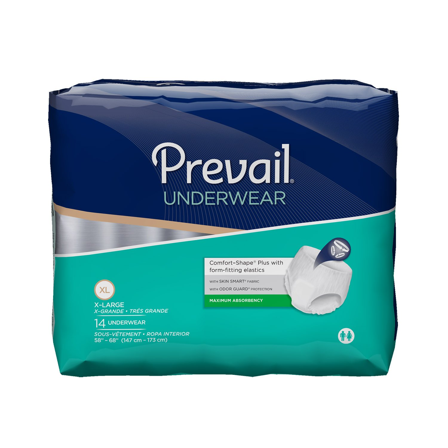 Amazon.com: Prevail Maximum Absorbency Underwear, Large, Pack/16: Health & Personal Care