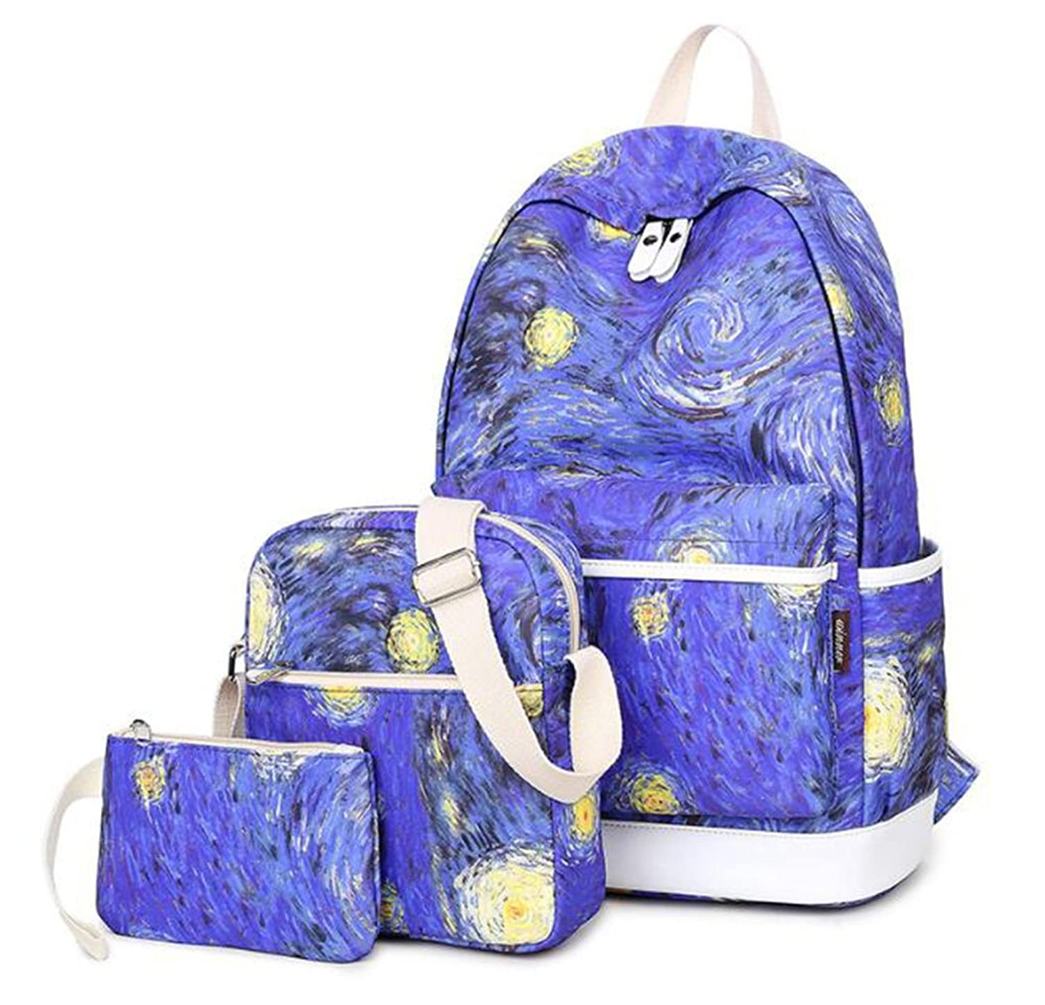 Cute School backpack Purse Set lightweight 14inch Laptop Bookbags for Teen Girls