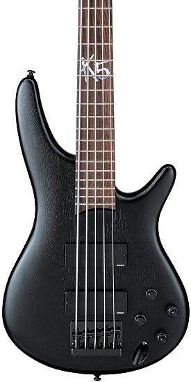 Ibanez K5 fieldy Signature Guitarra Eléctrica de 5 cuerdas (Negro Plano)