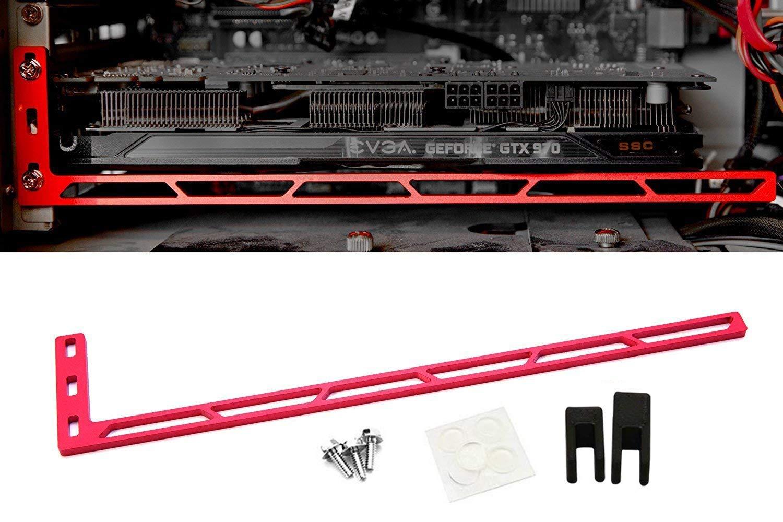 CloverTale Graphics Card GPU Brace Support Video Card Sag Holder Bracket Red