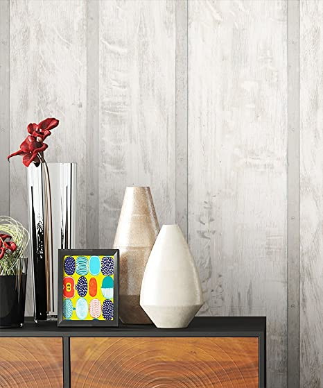 Wood Wallpaper Non Woven Beige Grey Brown White Stainless Beautiful Elegant  Wallpaper In Wooden Design