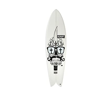 Retro Fish Surfboard, Knife Skull Design, (like DHD, JS, CI)