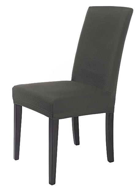 SCHEFFLER-HOME Mia Fundas de sillas en microfibra 2 piezas, estirable Cubiertas de la sillas, Spandex Protecdor moderna slipcover, Cubierta de la ...