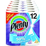 Plenty Kitchen Towel Fat Designer Fun Print Roll (Pack of 6 X 2, Total 12 Rolls)