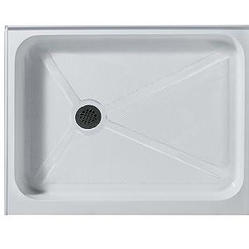 VIGO 32 X 48 In. Rectangular Shower Base Left Drain, White