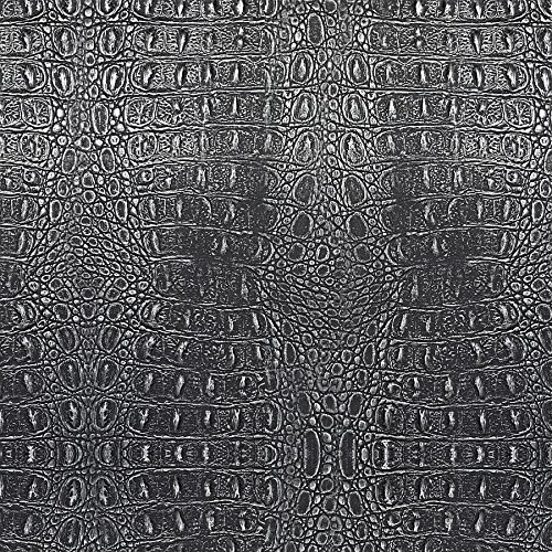WallFace 13521 CROCO Wall panel textured 3D interior decor luxury wallcovering self-adhesive black silver | 2,60 sqm by Wallface (Image #6)