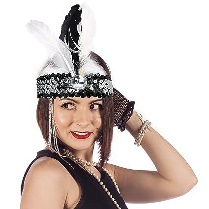 amazon com skeleteen roaring twenties flapper headband women s