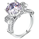 TenFit rings 3CT Clear CZ Diamond Rings For women Wedding engagement Jewelry