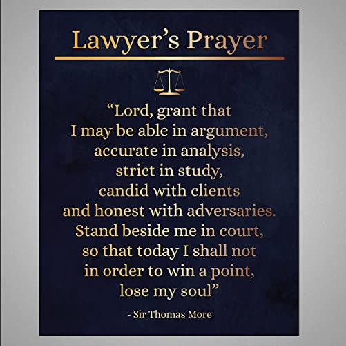 Superbe Lawyeru0027s Prayer   Lawyeru0027s Gift   Law Office Decor   Law Graduation Present    8 Inches