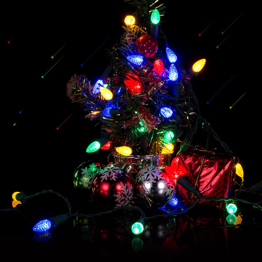 Led Christmas Lights Battery String Flight Strawberry C3 Wire Light Wiring Diagram On 4 Xmas Bulbs 50 Powered Indoor Outdoor Decorative Waterproof For Tree