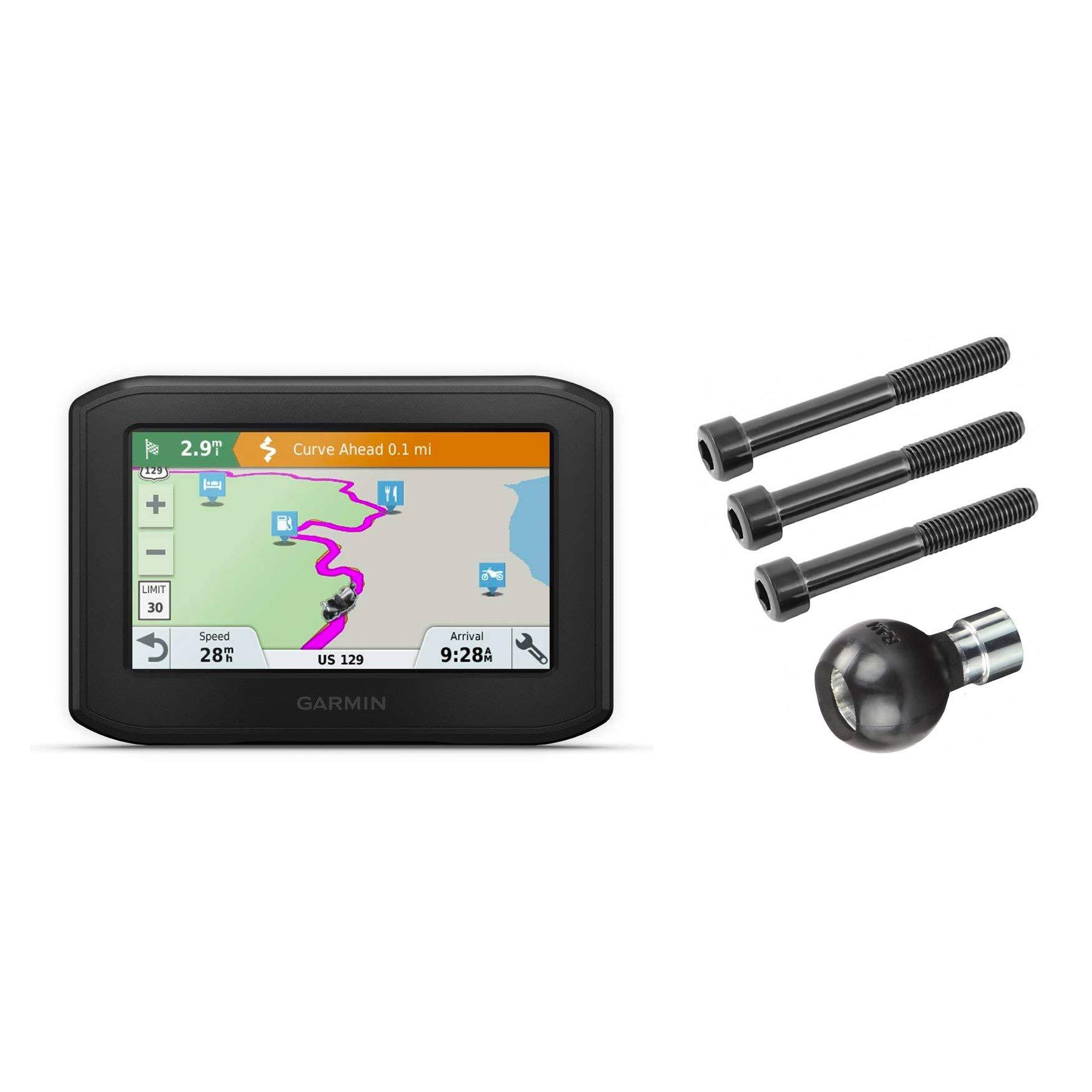 Garmin Zumo 396 LMT-S, Motorcycle GPS with RAM-B-367U Motorcycle Handlebar Clamp Mount 010-02019-00