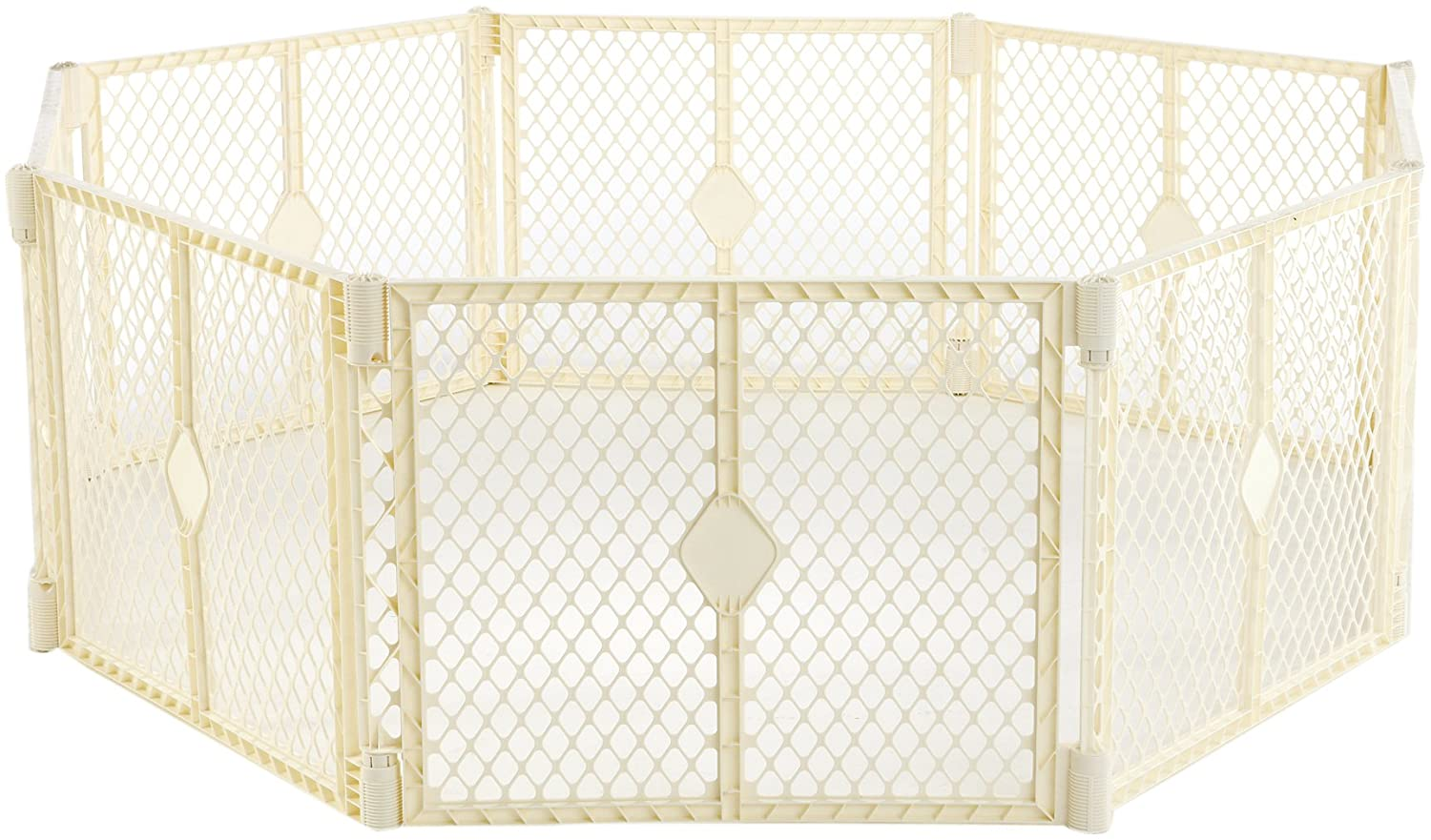 North States Industries Superyard Classic Play Yard, Ivory, 8 Panel  (Discontinued by Manufacturer)