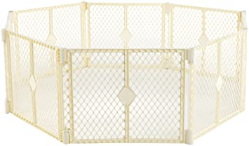 North States Industries Superyard Classic Play Yard, Ivory, 8 Panel  (Discontinued by Manufacturer