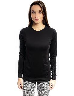 b0572befacae8a Cuddl Duds ClimateRight Microfiber Warm Underwear Long Sleeve top (Black)