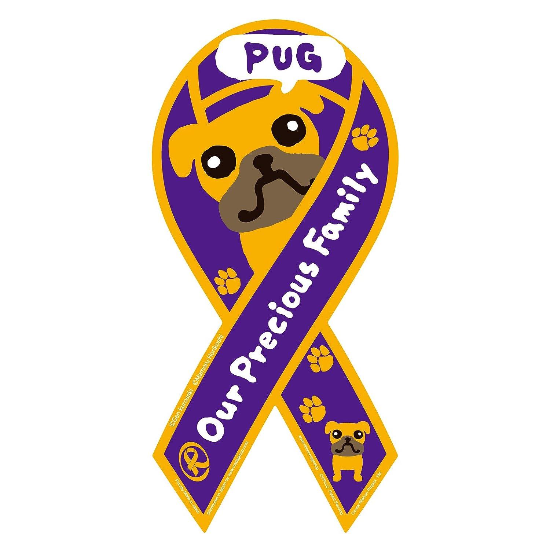 Ribbon magnet OPF Purple Pug (japan import)
