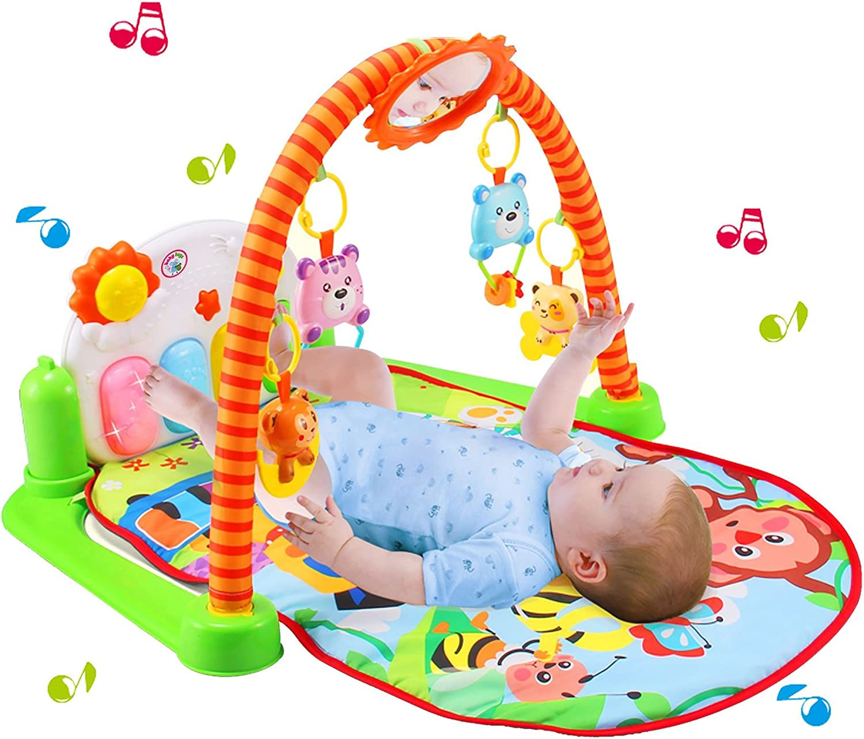 Alfombrilla para gimnasio con dise/ño de Baby Activity Piano Animals Babyhugs