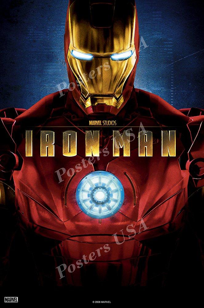 Posters USA Marvel Iron Man Original Movie Poster GLOSSY FINISH - FIL285 (24'' x 36'' (61cm x 91.5cm))