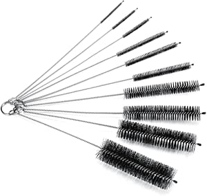 JZK 10 x Nylon Tube Cleaner Brush Pipe Cleaning Brushes for Cleaning Kitchen Kettle Spout Teapot Nozzle