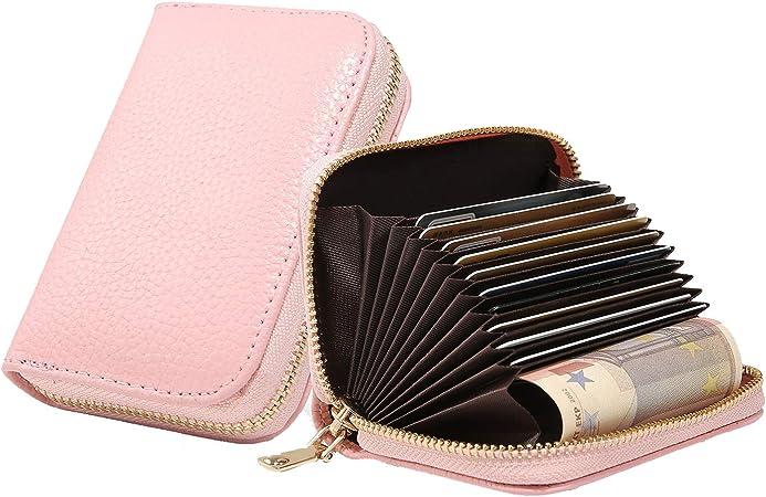 Leder Geldbörse Karten Etui 2 Geldscheinfächer und Platz für viele Karten