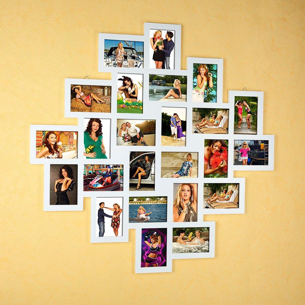 24 Bilder Bilderrahmen 10x15 Fotogalerie in weiß Collage XXL ...