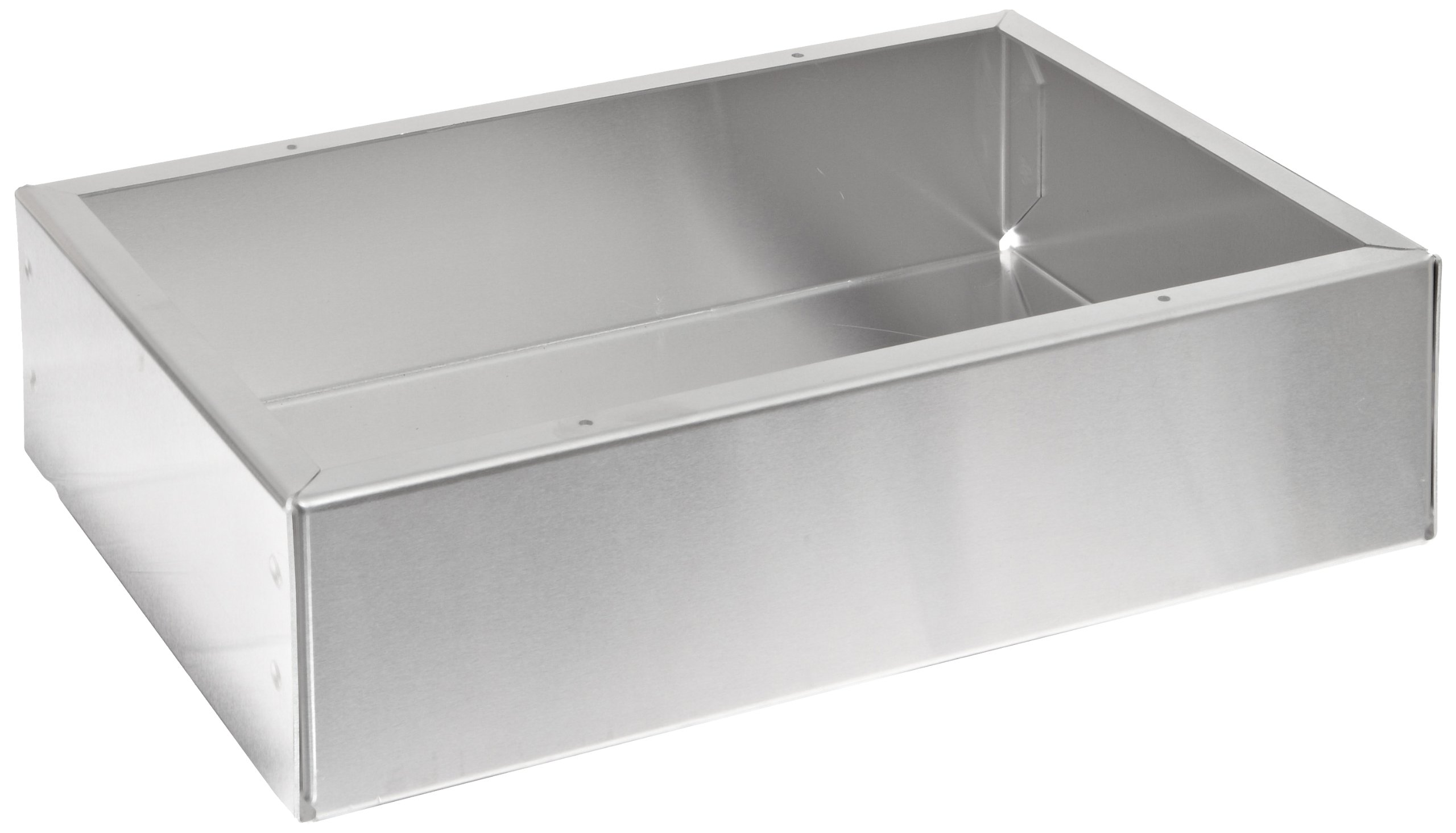 BUD Industries AC-424 Aluminum Chassis, 12'' Length x 8'' Width x 3'' Height, Natural Finish