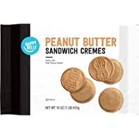 Amazon Brand - Happy Belly Peanut Butter Sandwich Crème Cookies, 16 oz