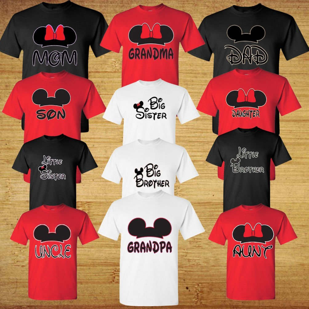 Family Disney Matching Shirts - Mickey Head Family Vacation T-Shirts
